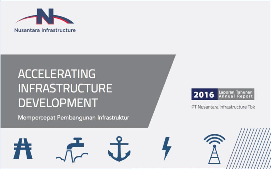 Cover Laporan Tahunan PT Nusantara Infrastructure Tbk